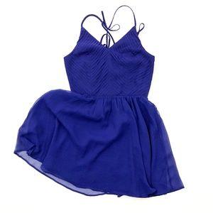 Adelyn Rae Spaghetti Strap Chiffon Navy Dress NWT